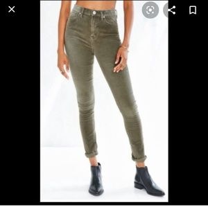 BDG High rise corduroy pants in olive